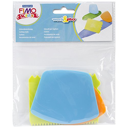 Fimo Kids Work and Play Cutting Tools with 3 Parts, Multi-colour from Fimo