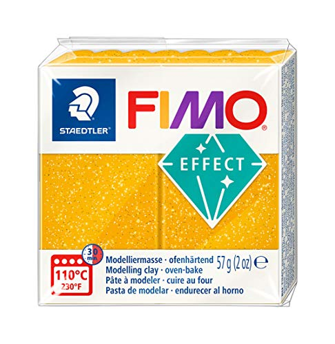 Staedtler Fimo Effect 8020-112 Oven Hardening Modelling Clay 56g - Gold Glitter from STAEDTLER