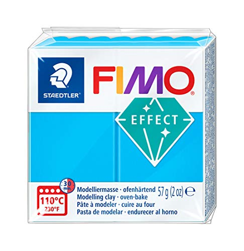 Staedtler Fimo Effect 8020-374 Oven Hardening Modelling Clay 56g - Translucent Blue, 1 packung from STAEDTLER