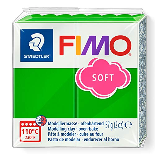 Staedtler Fimo Soft 8020-53 Oven Hardening Modelling Clay 56g - Tropical Green from STAEDTLER