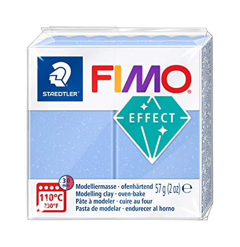 STAEDTLER FIMO Effect 8020-386 Oven Hardening Modelling Clay, 57 g - Agate Blue from STAEDTLER