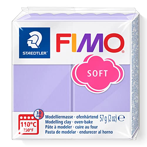 STAEDTLER FIMO Effect 8020-605 Oven Hardening Modelling Clay, 57 g - Pastel Lilac from STAEDTLER
