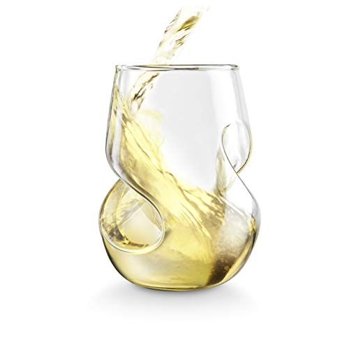 Final Touch Conundrum White Wine Glasses - Hand Blown Glass 266ml - Pack of 4 from Final Touch
