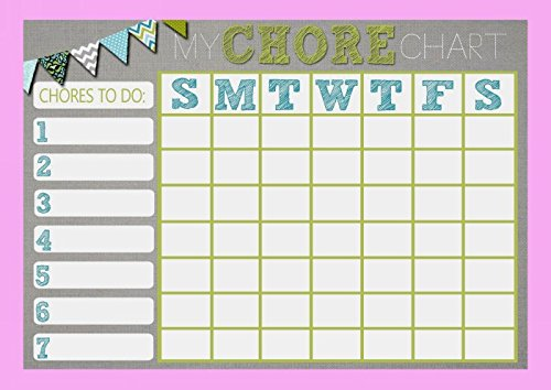 Childrens Kids Rota Reward Task Chore Chart Pink And Grey from Fingerprint Designs