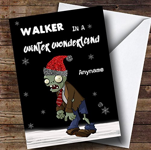 Zombie The Walking Dead Wonderland Personalised Christmas Card from Fingerprint Designs