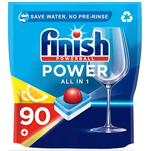 Finish Dishwasher Tablets, All in 1 Max Lemon, 90-Count from Finish