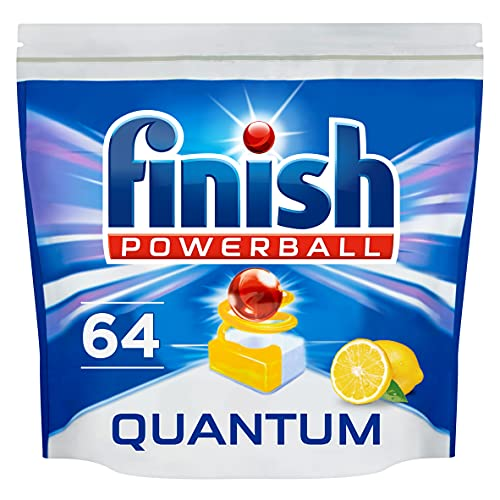 Finish Dishwasher Tablets, Quantum Lemon, 64-Count from Finish
