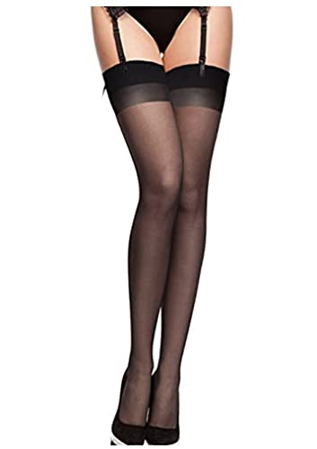 Fiore Obsession Justine Sheer Stockings 20 Denier Plain Tops Up to Size XXXL