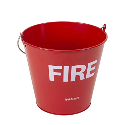 Firechief MFB1 Metal Fire Bucket, Red from Firechief
