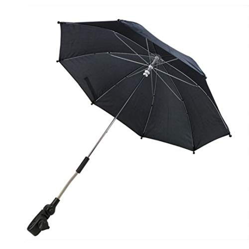 First Steps Pram Buggy Pushchair Universal Automatic Parasol Umbrella Sunshade (Black) from First Steps