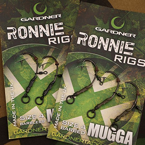 Gardner Tackle Ready Tied Ronnie Rigs (Pack of 3) - Carp Pop Up Coarse Fishing from First4Fishing