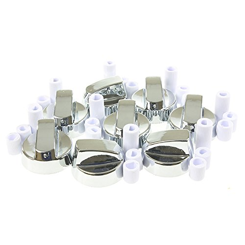 First4Spares Silver Universal Cooker Control Knob For Cookers & Ovens 8 Pack from First4spares