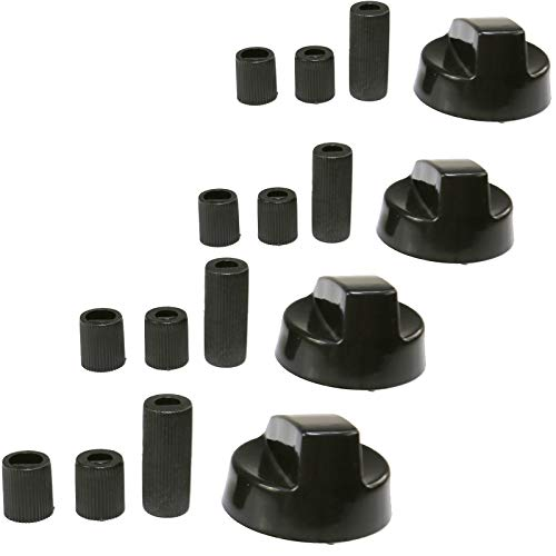 First4Spares Universal Black Control Knobs for Ovens/Cookers and Hobs, Pack of 4 from First4spares