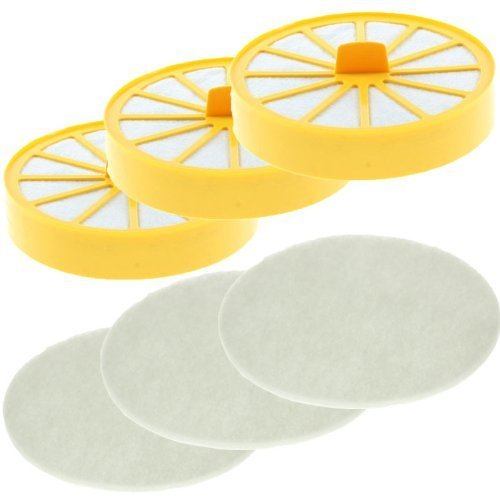 First4spares Washable Lifetime Pre Motor Top Filters and Post Filter Pads for Dyson DC04 Vacuum Cleaners (3 of Each) from First4spares