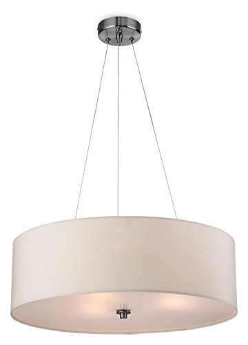 Firstlight 2314CR E27 Edison Screw 42 Watt Phoenix Pendant Light, Cream from Firstlight Products