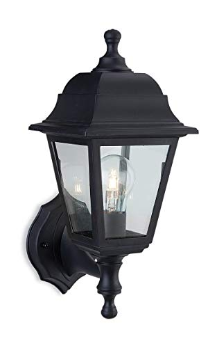 Firstlight Products 8346BK 1 x E27 60 Watt IP44 Oslo Lantern Uplight/ Downlight, Black Resin from Firstlight Products