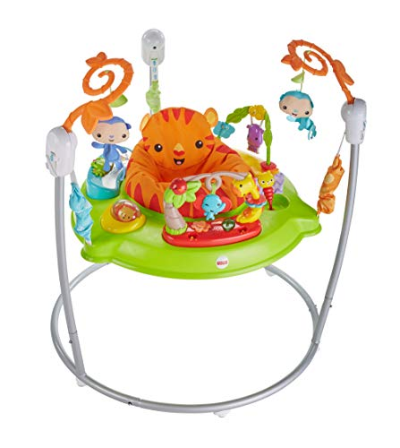 Fisher-Price CHM91 Roaring Rainforest Jumperoo, New-Born Baby Activity Centre with Music and Lights from Fisher-Price