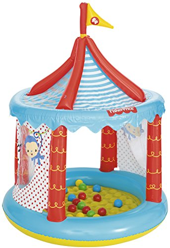 Bestway Fisher-Price Children's Inflatable Circus Ball Pit tent, Includes 25 Balls from Bestway