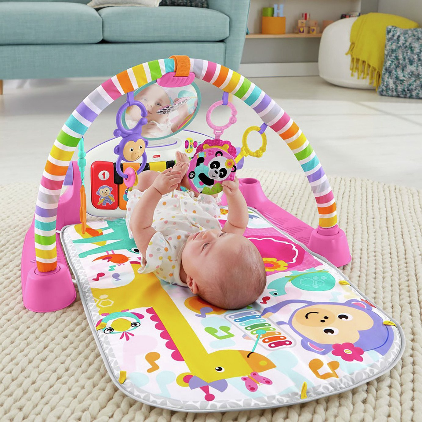 Fisher-Price Kick and Play Piano Gym - Pink from Fisher-Price