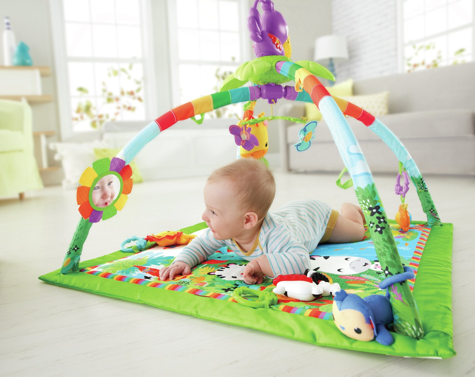 Fisher-Price - Rainforest Music and - Lights Deluxe Gym from Fisher-Price
