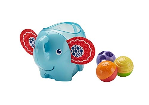 Fisher-Price Roly-Poly Elephant, New-born Bat-at Activity Toy with Different Textures, Colours and Sounds, 3 Months Plus from Fisher-Price
