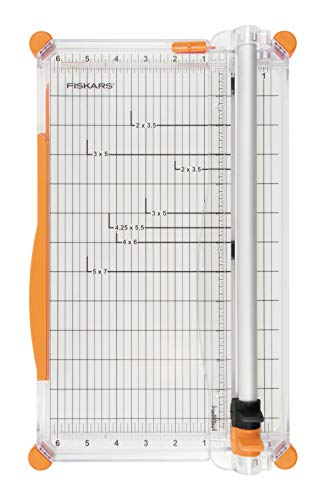 Fiskars Personal SureCut Plus Paper Trimmer 30 cm - A4, With Cutting Line Guide, Including 1 Scoring Blade & 1 Cutting Blade, 1020504 from Fiskars
