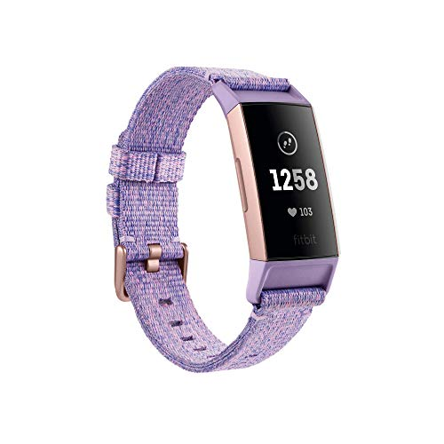Fitbit Charge 3 NFC Special Edition Advanced Fitness Tracker with Heart Rate, Swim Tracking & 7 Day Battery - Rose-Gold/Lavender, One Size from Fitbit
