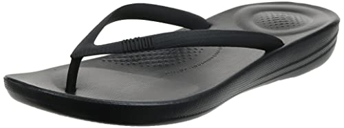 Fitflop Women Iqushion Ergonomic Flip-Flops Toe Thong Sandals, Black (All Black 090), 39 EU (6 UK) from Fitflop