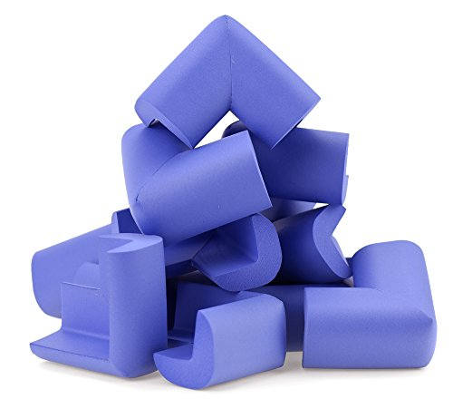 FiveSeasonStuff® All Season Baby Corner Guard Kit / Edge Guards / Foam Corner Guards / Corner Protectors, Choose from U-Shaped Double Sided, L-Shaped Jumbo Corner and L-Shaped Standard Corner Kits (Jumbo Purple 12pcs * L-Shape Foam Corner Guards (T: 5-14mm) LM42) from FiveSeasonStuff