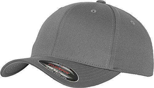 Flex fit Unisex's Wooly Combed Baseball Cap, Grey, L/XL from Flex fit