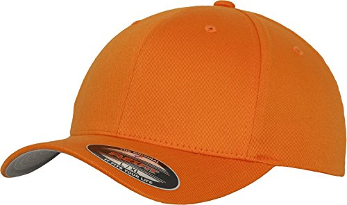 Flex fit Wooly Combed Baseball Cap, Orange, Xx-Large from Flex fit