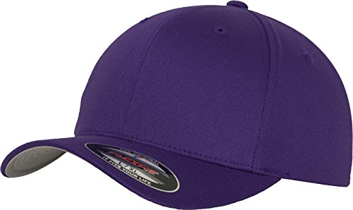 Flex fit Wooly Combed Baseball Cap, Purple, Xx-Large from Flex fit