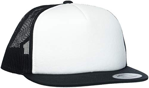 Flex fit Unisex's Foam Trucker with White Front wht/blk one Size Yupoong Headwear from Flex fit