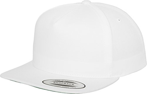 Flexfit Mütze Classic 5 Panel Snapback, white, one size from Flex fit