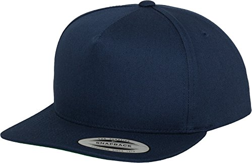 Flex fit Unisex's Classic 5 Panel Snapback navy one size Yupoong Headwear from Flex fit
