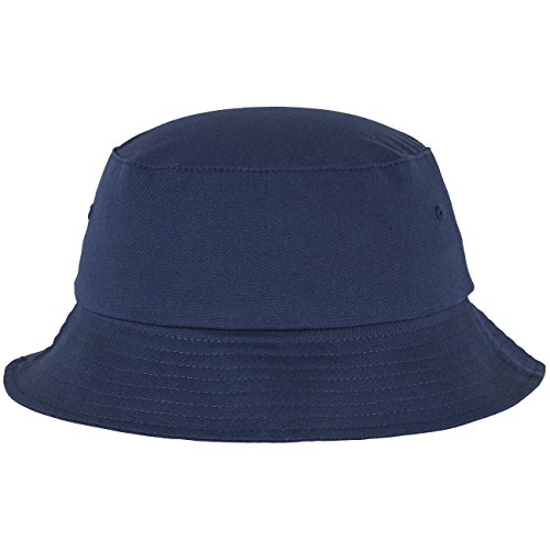 Flex fit Unisex's Cotton Twill Bucket Hat Navy one Size Yupoong Headwear from Flex fit