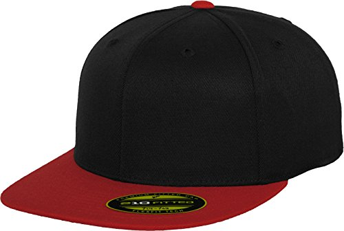 Flex fit Unisex's Premium 210 Fitted 2-Tone blk/red L/XL (7 ¼-7⅝) Yupoong Headwear from Flex fit