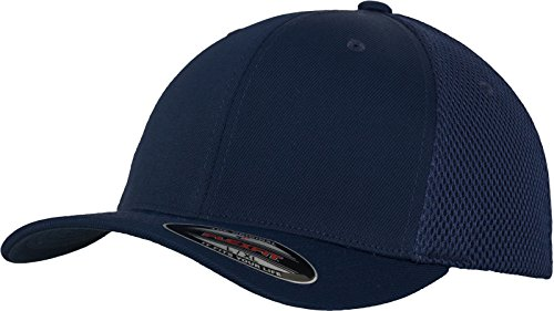 Flex fit Unisex's Tactell Mesh Navy S/M Yupoong Headwear from Flex fit