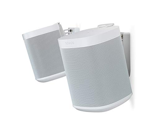 Flexson Wall Mount for Sonos One and Sonos PLAY:1 - White (Pair) from Flexson