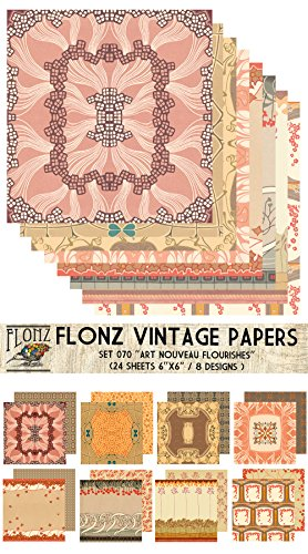 Paper Pack 18sh 25x25cm Kittens Cats FLONZ Vintage Paper for Scrapbooking and Craft