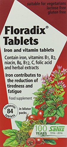 Floradix Iron Supplement Tablets - Pack of 84 Tablets from Floradix