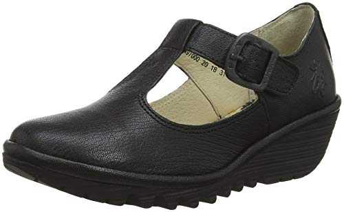 Fly London Girls' YADY K Mary Janes, Black (Black 000), 1 (33 EU) from Fly London