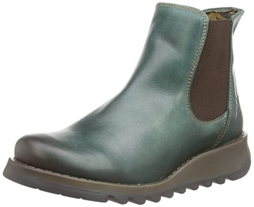 Fly London Women Salv Chelsea Boots, Green (Petrol 006), 3 UK (36 EU) from Fly London