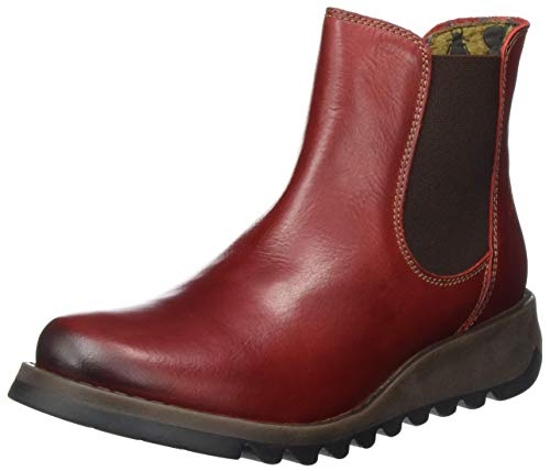 Fly London Women Salv Chelsea Boots, Red (Red), 4 UK (37 EU) from Fly London