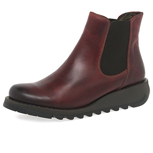 Fly London MAKE, Women's Chelsea Boots, Red (Red 024), 6 UK (39 EU) from Fly London