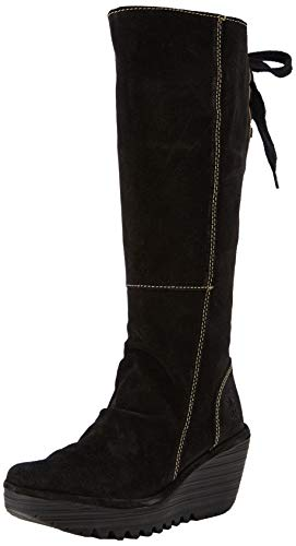 Fly London Women's Yust Oil Suede Boots Ankle Boots, Black, 4UK (EU: 37) from Fly London