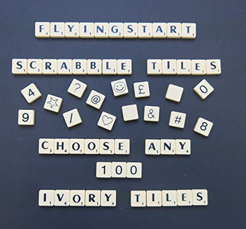 Flyingstart Pick and Mix Ivory Scrabble tiles - Choose your own Letters (Pack of 100) from Flyingstart