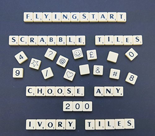Flyingstart Pick and Mix Ivory Scrabble tiles - Choose your own Letters (Pack of 200) from Flyingstart