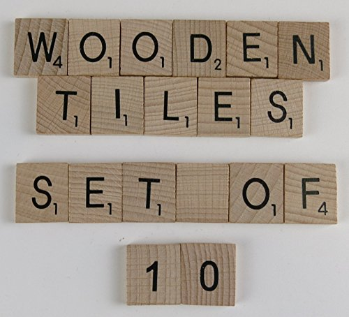 Wooden Scrabble letters - Packs of 10 per Letter (HEART) from Flyingstart