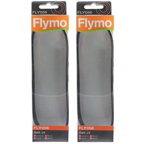 Genuine Flymo Glider 330 350 Lawnmower J4 Drive Belt (Pack of 2, FLY056) from Flymo